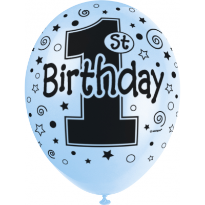 1st-birthday-blue-pearlised-blue-12-superprint-premium-balloons-printed-all-around-2